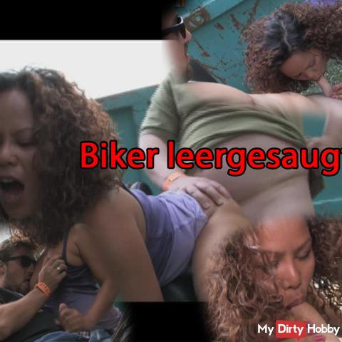 Sucked dry bikers