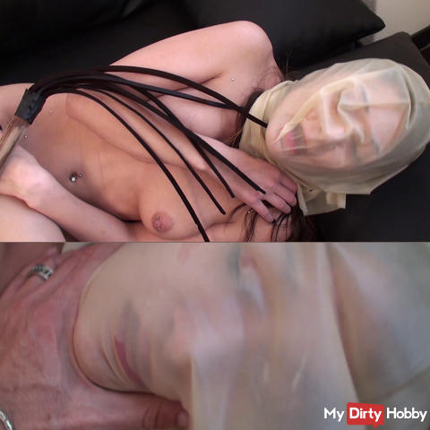 Stricter flogging with latex bag