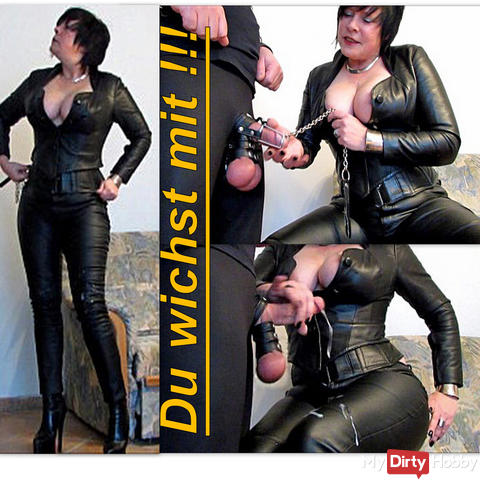 Leather Julias extreme cum-breeding