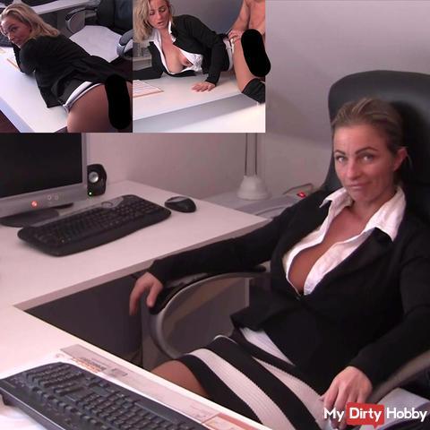 fu*k ! Stress mit Chef im Büro ! Nylonfi** !