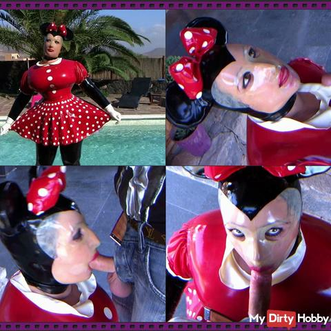 Latex Minnie Maus im Blowjob Paradies