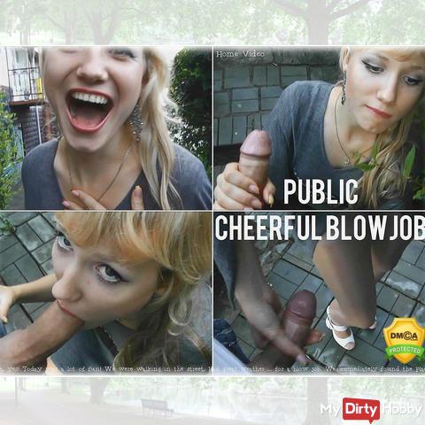 =Public cheerful blowjob=