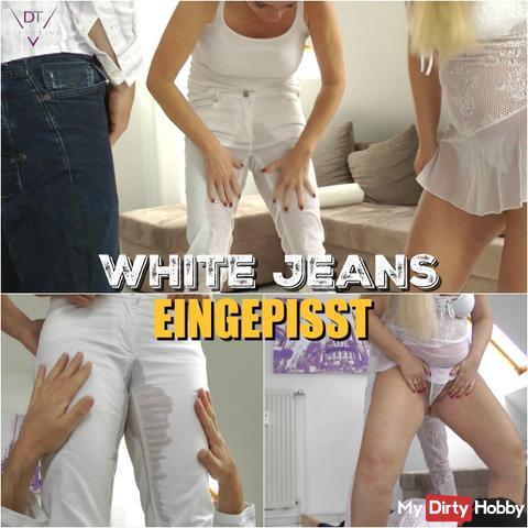 White jeans eingepisst