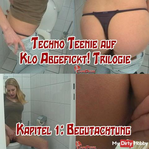 Techno Teen on toilette Fucked! 1 v 3