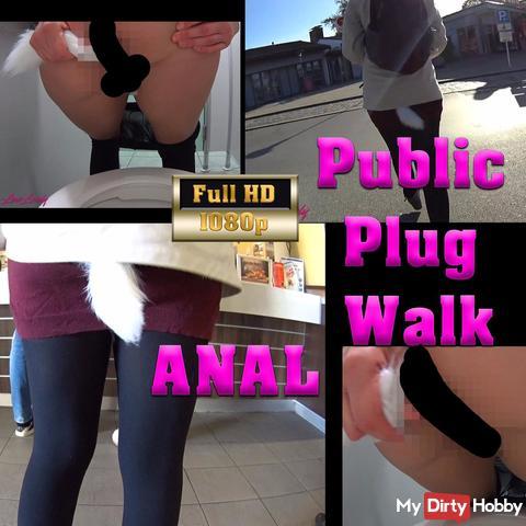 Extreme Public Autobahn Rastplatz ana* Plug Walk!