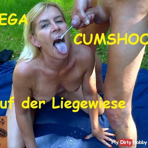 Mega Cumshot on the lawn
