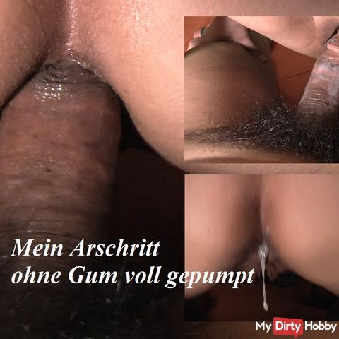 Ass ride without gum pumped full