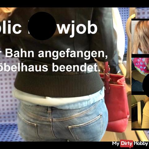 Public bl*wjob in der Bahn und im Möbelhaus