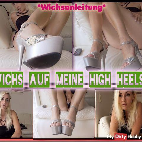 Los you horny worm !! Jerk off on my high heels