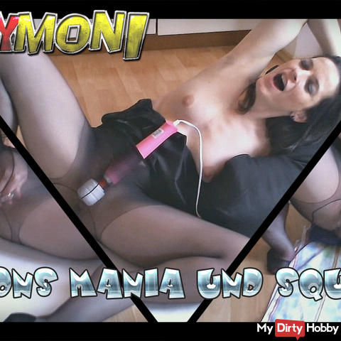 Nylons mania und squirt am Ende