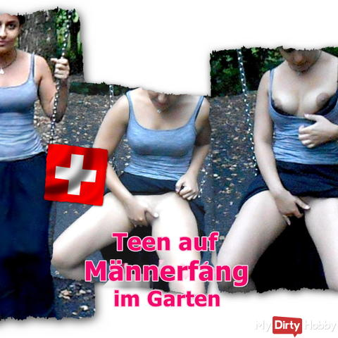 I was in the garden boring, and he came and filmed mich..hihihi