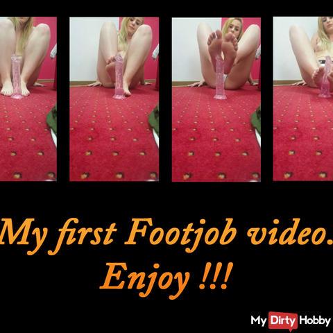 Mein erstes Footjob-Video, viel Spaß!