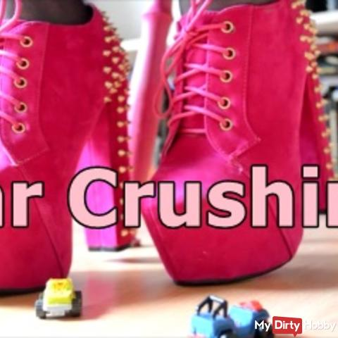 High Heels Car Crushing