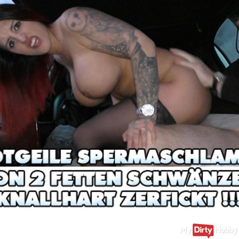 Horny Spermaschlampe of 2 fat cocks brutal Zerfickt!