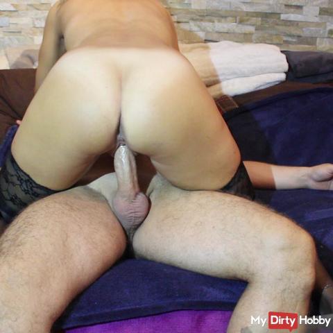 horny riding and tasty creampie