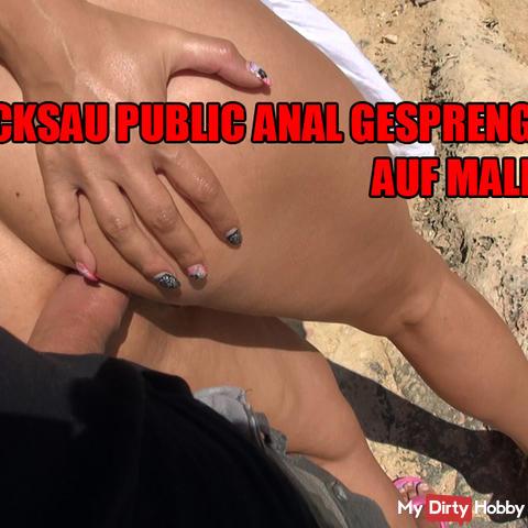 Ficksau public Anal sprinkled on Malle