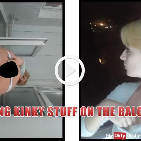 Kinky Sachen auf dem Balkon