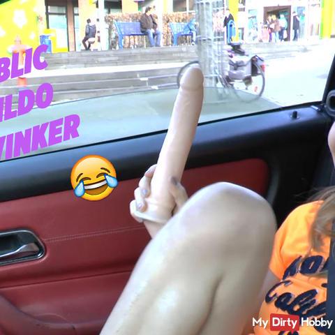 Funny Public Dildo Winker - must be fun