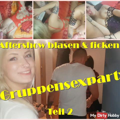Group sex party part 2 - Aftershow blow & fuck -