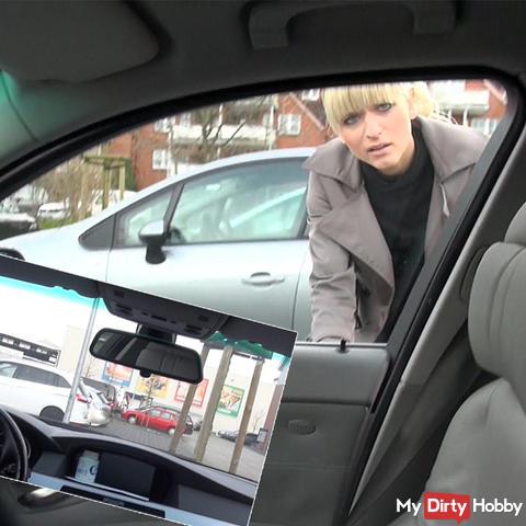 Public! Chef beim ParkplatzWichsen erwischt!