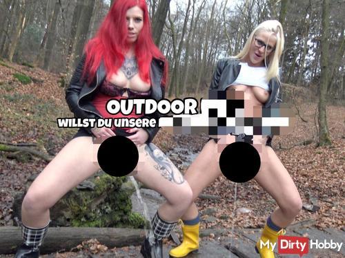 Outdoor pi** | Willst du unsere nassen fo**en lec*en?