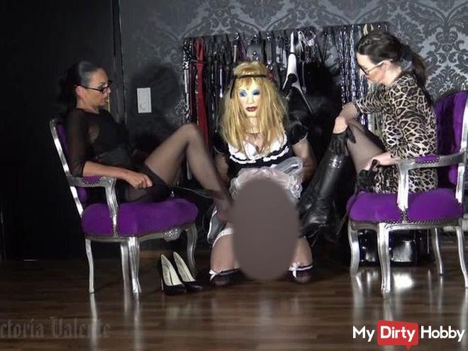 Sissy Zofe für die Herrinen - Transformation Mit Spezial Gast Madame Catarina Teil 4
