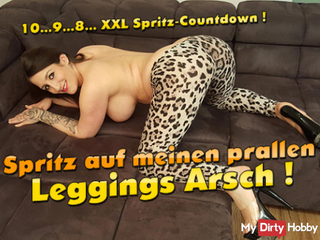 Spray on my ample ass leggings! XXL spray countdown !!!