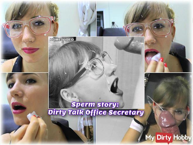 Sperm Geschichte: Dirty Talk Sekretariat