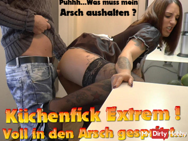 Küchenfick extreme! Full sprayed in the ass!