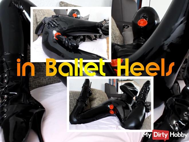 Rubber pupa in Ballet Heels