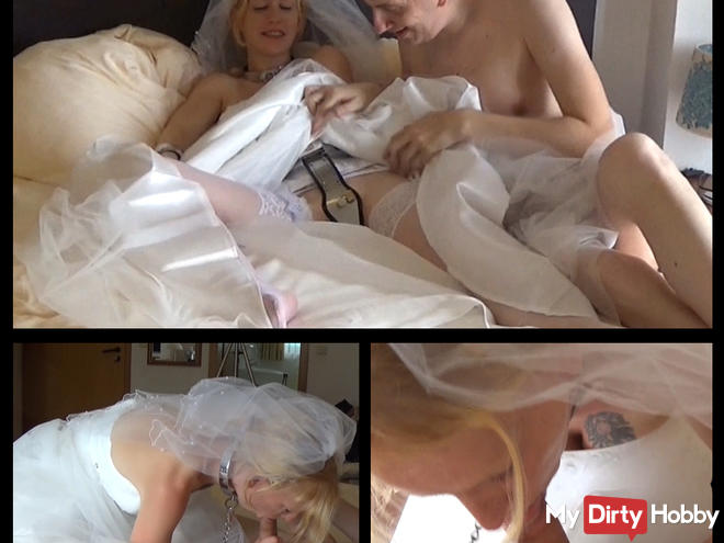 Slave bride in chastity belt