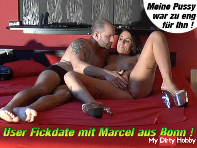 User Fickdate with Marcel from Bonn !!! Too tight for him !!!