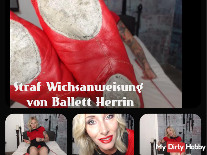 Criminal Wichsanweisung of Ballet Mistress Demona