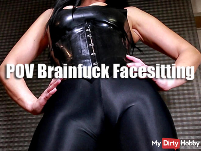 POV Facesitting Brainfuck in Cameltoe Leggings