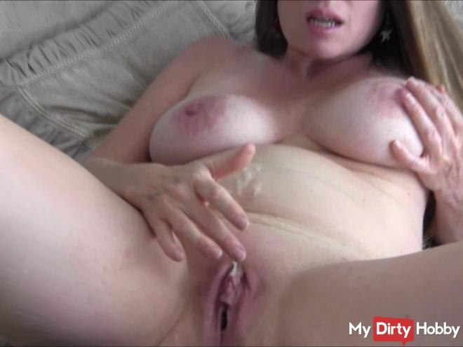 Playing With The Cum On My Belly
