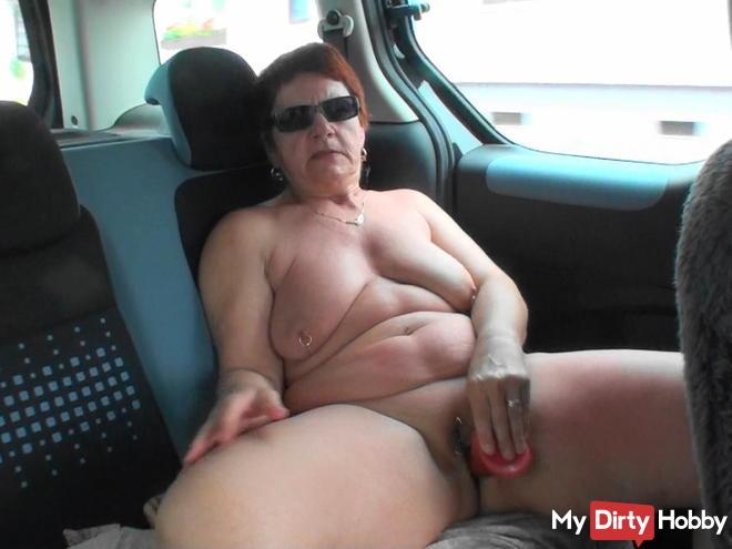 Dildo fick im auto