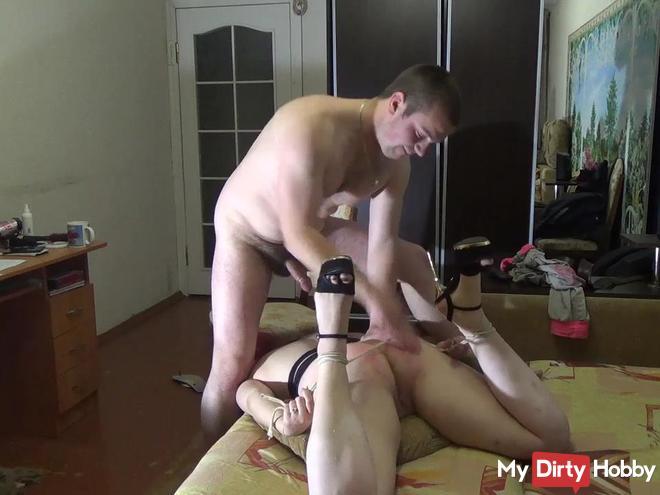 Husband punish wife pussy