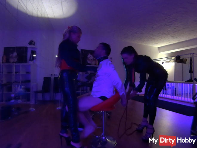 Barber Fetish with Lady Lalola and Fräulein Monique - Part 1