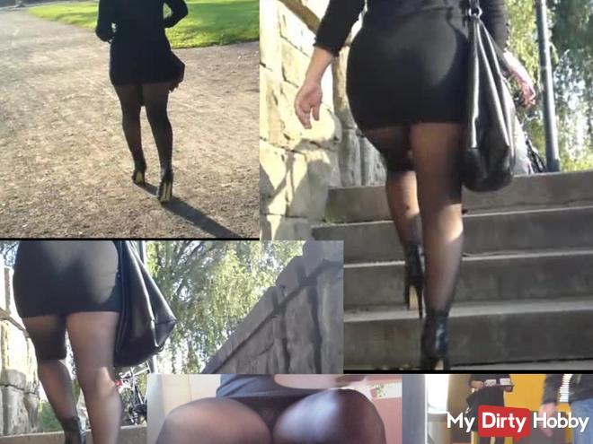 Sexy nylon bitch secretly filmed