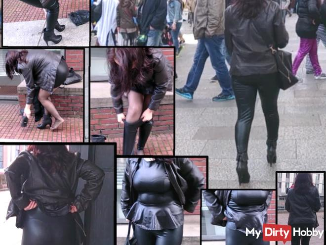 Latex leggings scandal! Moved the middle of the carnival Public