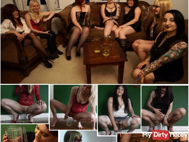 Piss Competition: Which of the 8 ladies can pee the most?