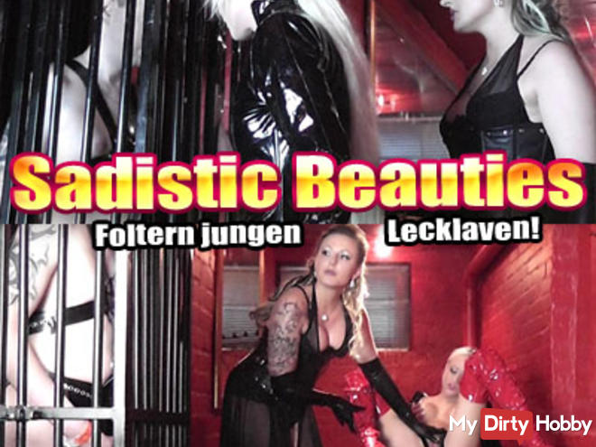 Sadistic torture Beauties young lick slave!