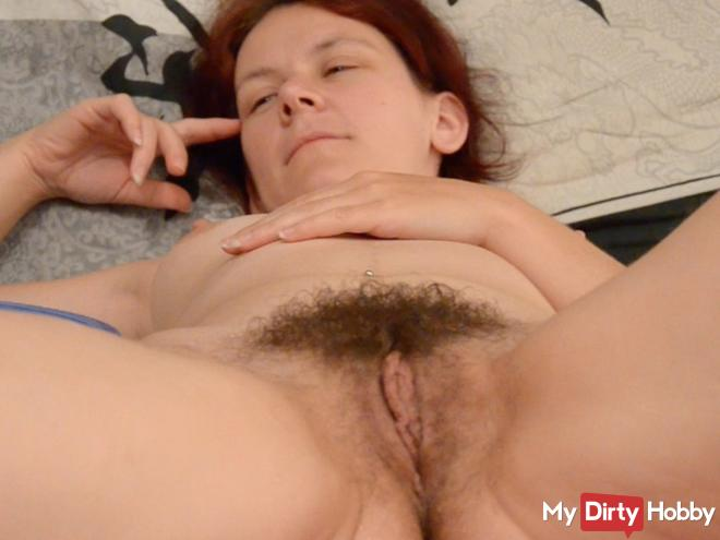 Extremely hairy pussy shaved.
