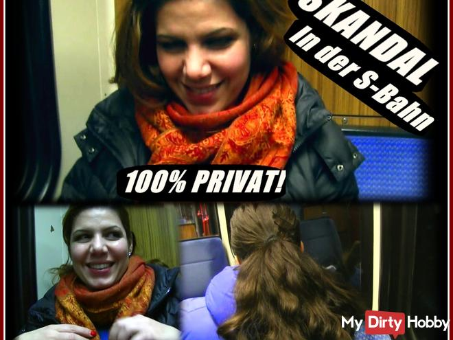 100% REAL and private! Publicly fingered in the S-Bahn and blown!