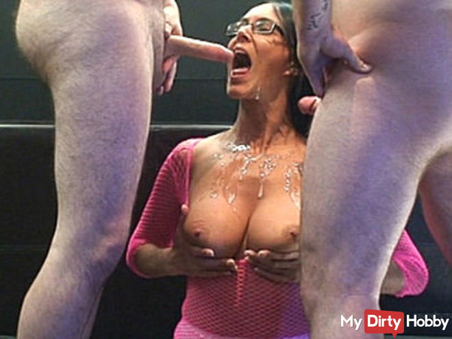 Eating filled fuck hairy hole semen