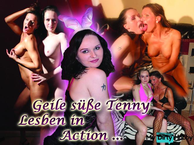 horny teeny lesbians in action