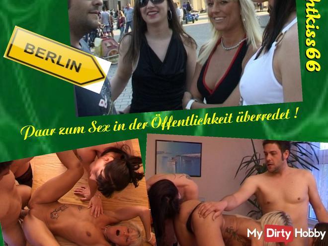 SÜCHTIG-Paar auf der Straße zum Sex überredet!