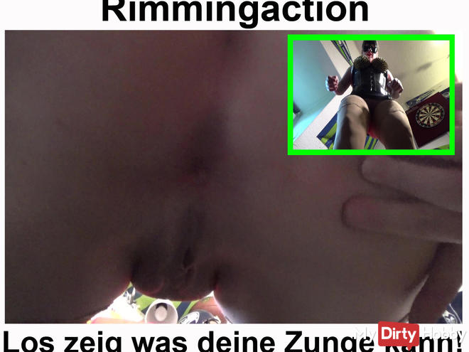 Rimming action! Los slave lick my ass!