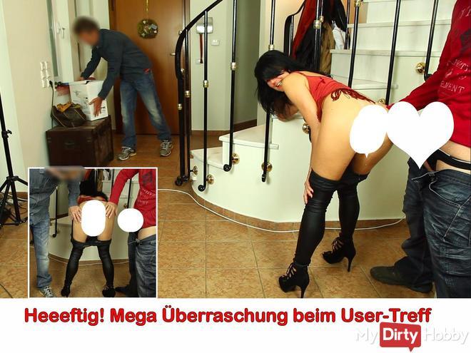 User-Treff! Geiler 3-Loch-fi** mit 2 Hammer-schwä**en