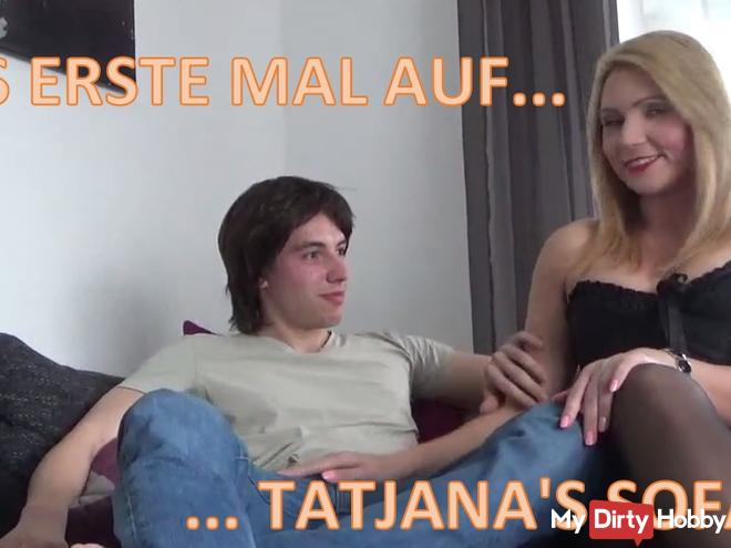 USER-visit !! The FIRST time on Tatjana's sofa!